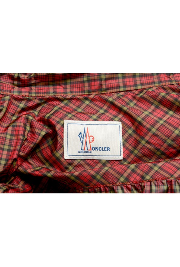 Moncler Women's Multi-Color Plaid Long Sleeve Hooded Blouse Top  : Picture 7
