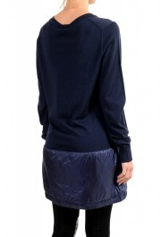 Moncler Women's Blue 100% Wool V-Neck Pullover Sweater: Picture 4