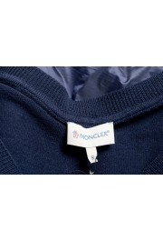 Moncler Women's Blue 100% Wool V-Neck Pullover Sweater: Picture 7