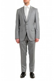 """Hugo Boss Men's """"T-Harvers4/Glover3"""" Slim Fit Silk Wool Plaid Two Button Suit"""