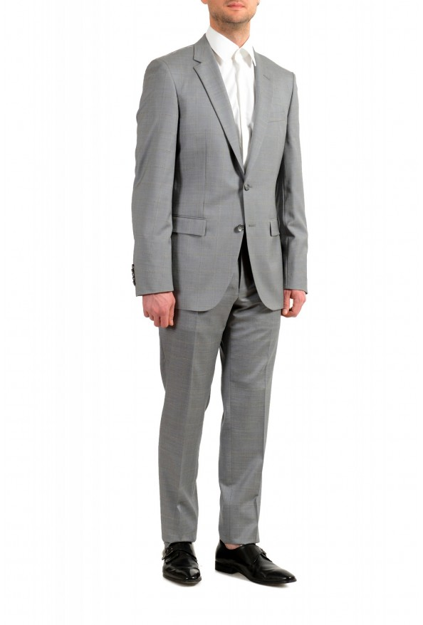 """Hugo Boss Men's """"T-Harvers4/Glover3"""" Slim Fit Silk Wool Plaid Two Button Suit: Picture 2"""