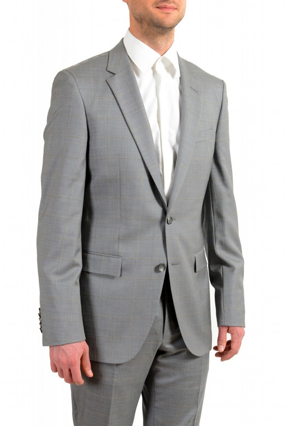 """Hugo Boss Men's """"T-Harvers4/Glover3"""" Slim Fit Silk Wool Plaid Two Button Suit: Picture 5"""