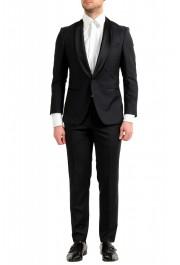 "Hugo Boss Men's ""Henry1/Glow1"" Slim Fit 100% Wool Black Tuxedo Suit"