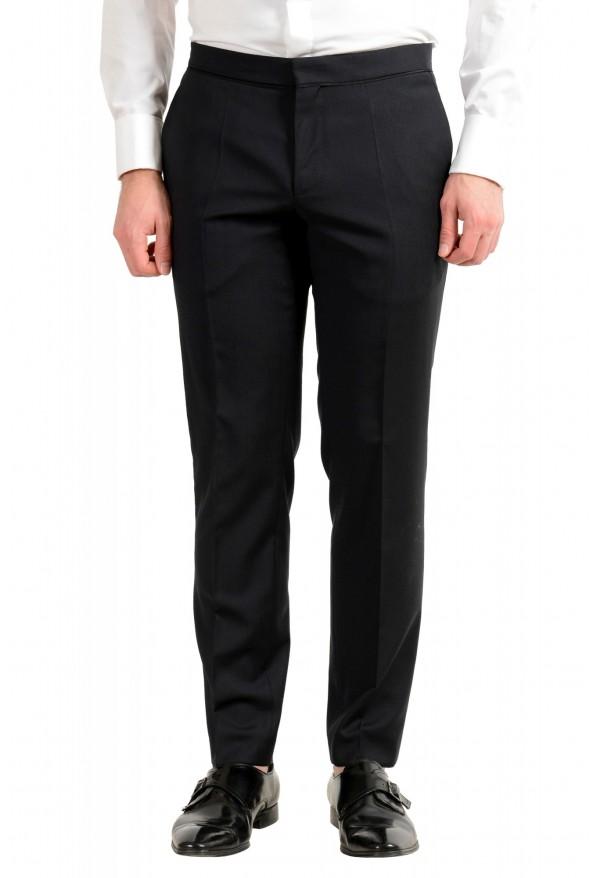 "Hugo Boss Men's ""Henry1/Glow1"" Slim Fit 100% Wool Black Tuxedo Suit: Picture 8"
