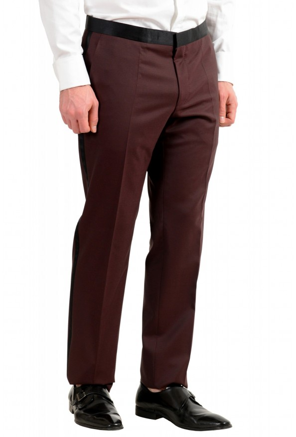 "Hugo Boss Men's ""Helward1/Gelvin_1"" Slim Fit 100% Wool Purple Tuxedo Suit: Picture 9"