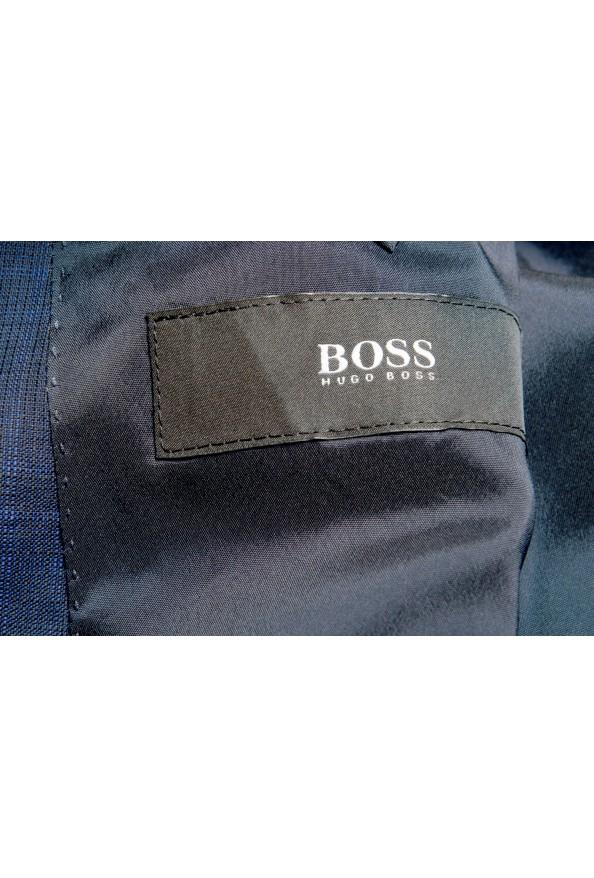 """Hugo Boss Men's """"Novan5/Ben2"""" Slim Fit 100% Wool Plaid Two Button Suit: Picture 12"""