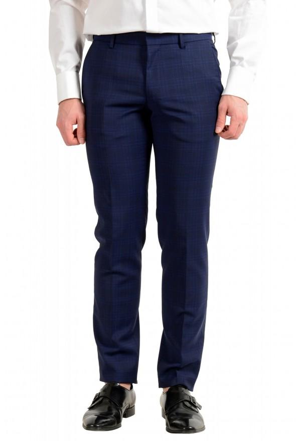 """Hugo Boss Men's """"Novan5/Ben2"""" Slim Fit 100% Wool Plaid Two Button Suit: Picture 8"""
