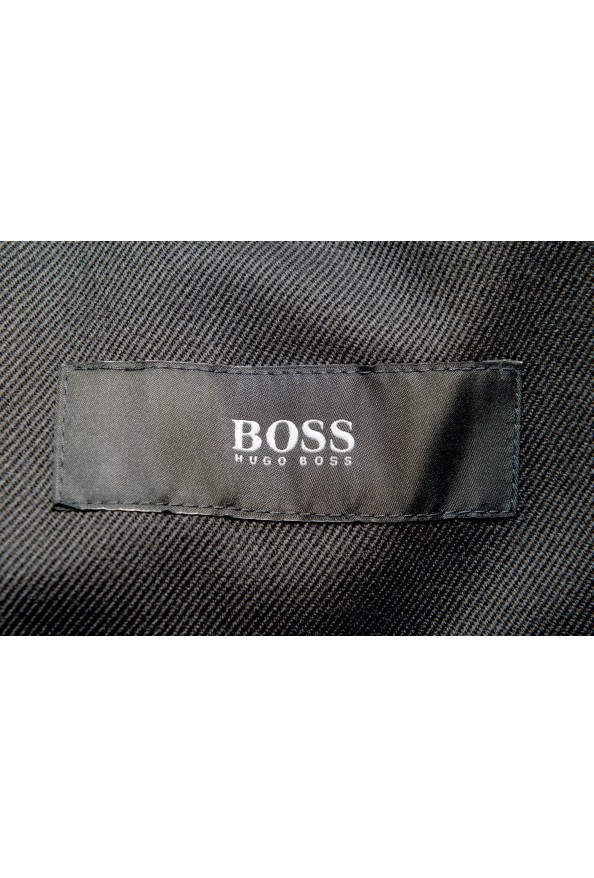 "Hugo Boss Men's ""Nielsen/Oliwer_1"" Black 100% Wool Double Breasted Tuxedo Suit: Picture 12"