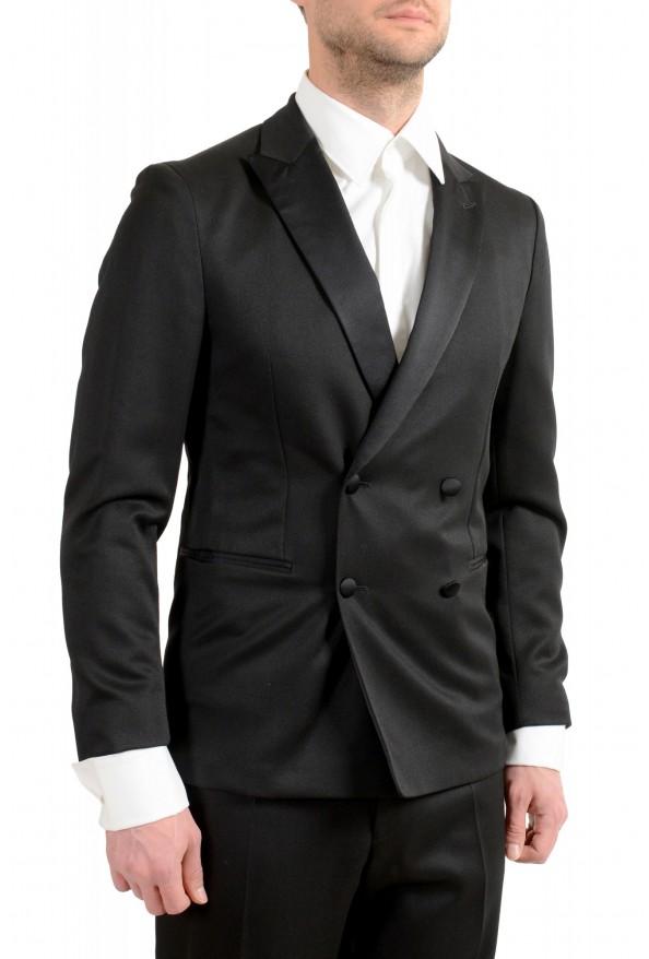 "Hugo Boss Men's ""Nielsen/Oliwer_1"" Black 100% Wool Double Breasted Tuxedo Suit: Picture 5"