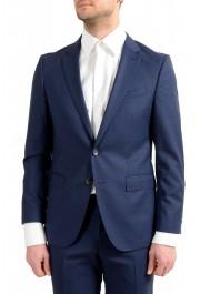 "Hugo Boss Men's ""Novan5/Ben2"" Slim Fit 100% Wool Blue Two Button Suit: Picture 4"