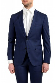 """Hugo Boss Men's """"Reyno4/Wave2"""" Extra Slim Fit 100% Wool Blue Two Button Suit: Picture 4"""