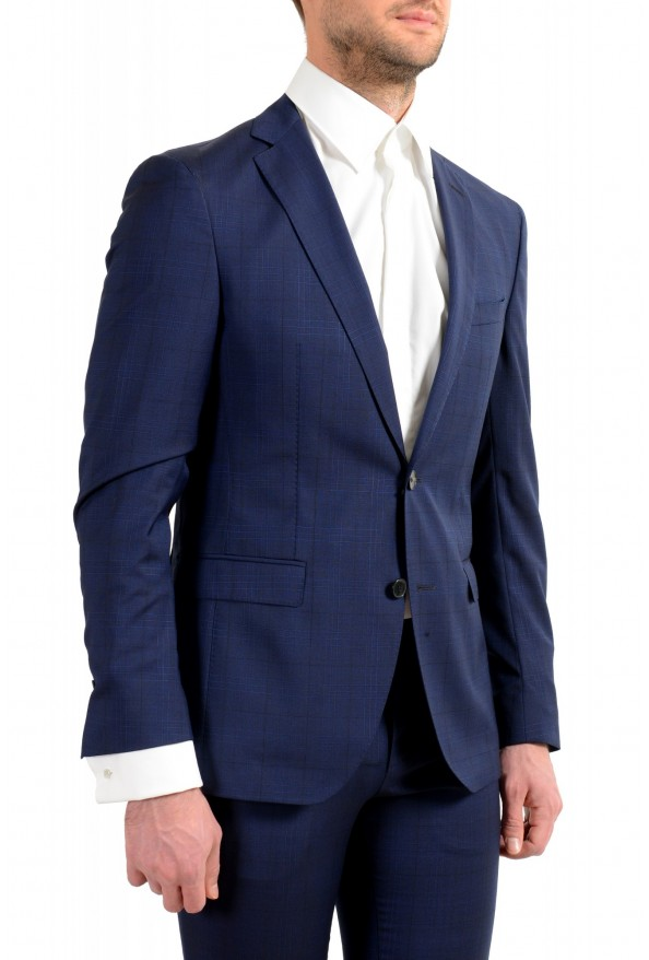 """Hugo Boss Men's """"Reyno4/Wave2"""" Extra Slim Fit 100% Wool Blue Two Button Suit: Picture 5"""