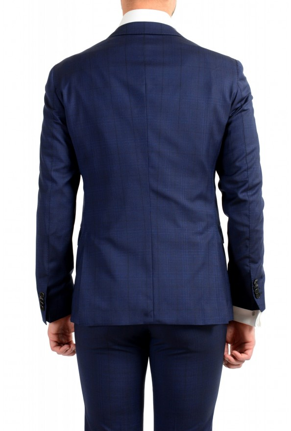 """Hugo Boss Men's """"Reyno4/Wave2"""" Extra Slim Fit 100% Wool Blue Two Button Suit: Picture 6"""