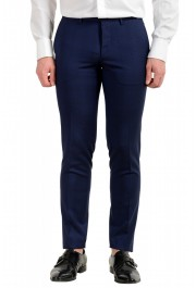 """Hugo Boss Men's """"Reyno4/Wave2"""" Extra Slim Fit 100% Wool Blue Two Button Suit: Picture 8"""