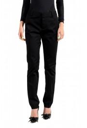 Dsquared2 Women's Black Flat Front Dress Pants