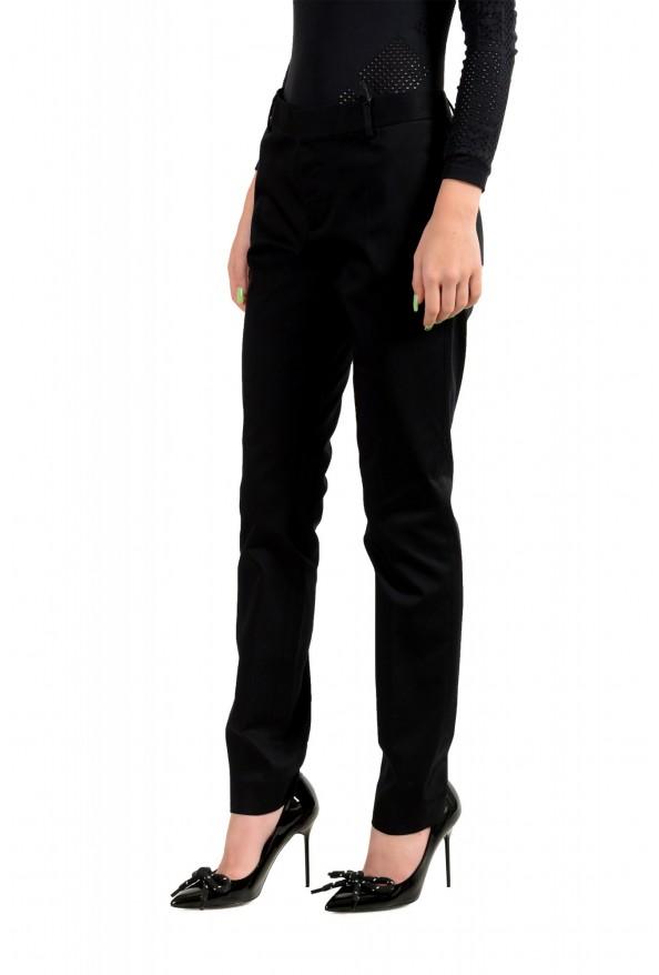 Dsquared2 Women's Black Flat Front Dress Pants: Picture 2