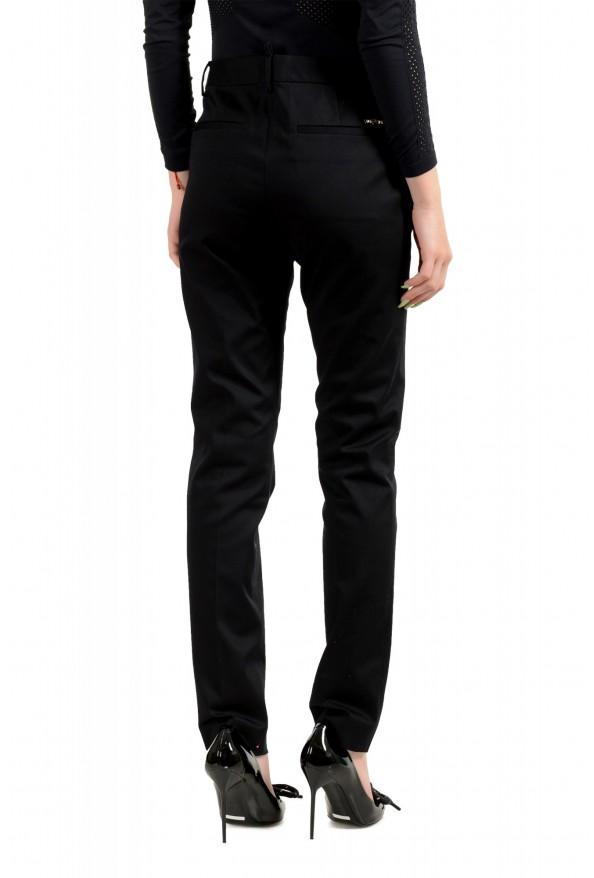 Dsquared2 Women's Black Flat Front Dress Pants: Picture 3