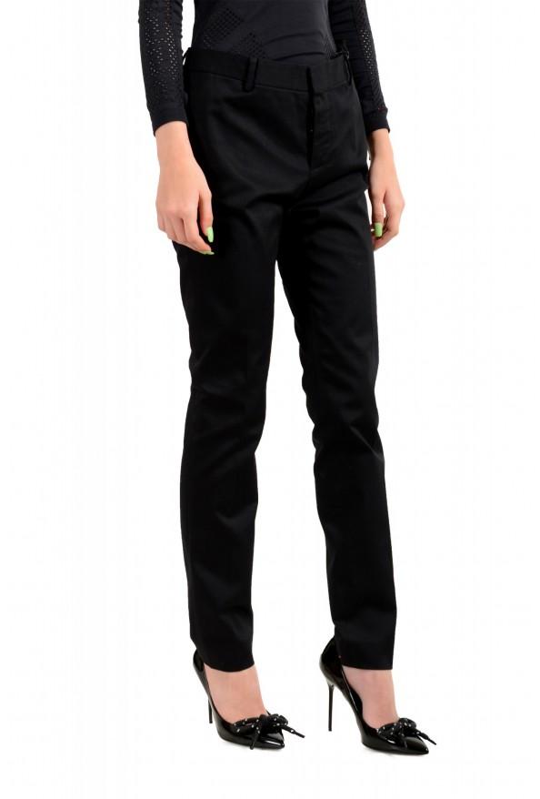 Dsquared2 Women's Black Flat Front Dress Pants: Picture 4