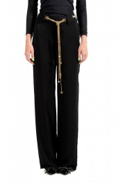 Dsquared2 Women's Black 100% Silk Chain Belted Dress Pants