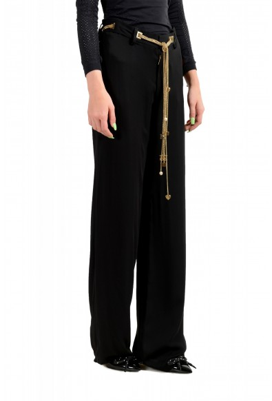 Dsquared2 Women's Black 100% Silk Chain Belted Dress Pants : Picture 2