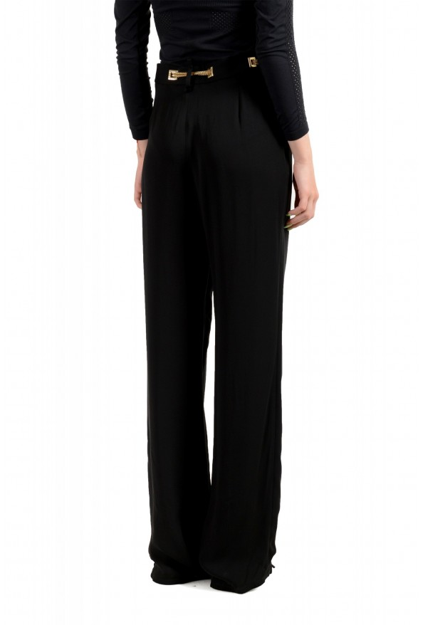 Dsquared2 Women's Black 100% Silk Chain Belted Dress Pants : Picture 3