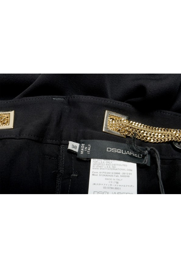 Dsquared2 Women's Black 100% Silk Chain Belted Dress Pants : Picture 4