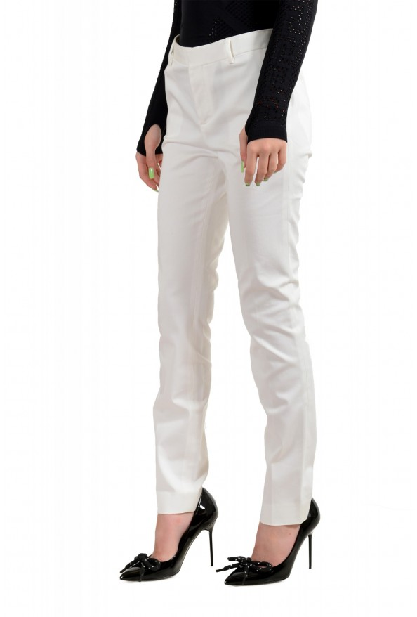 Dsquared2 Women's White Flat Front Dress Pants: Picture 2
