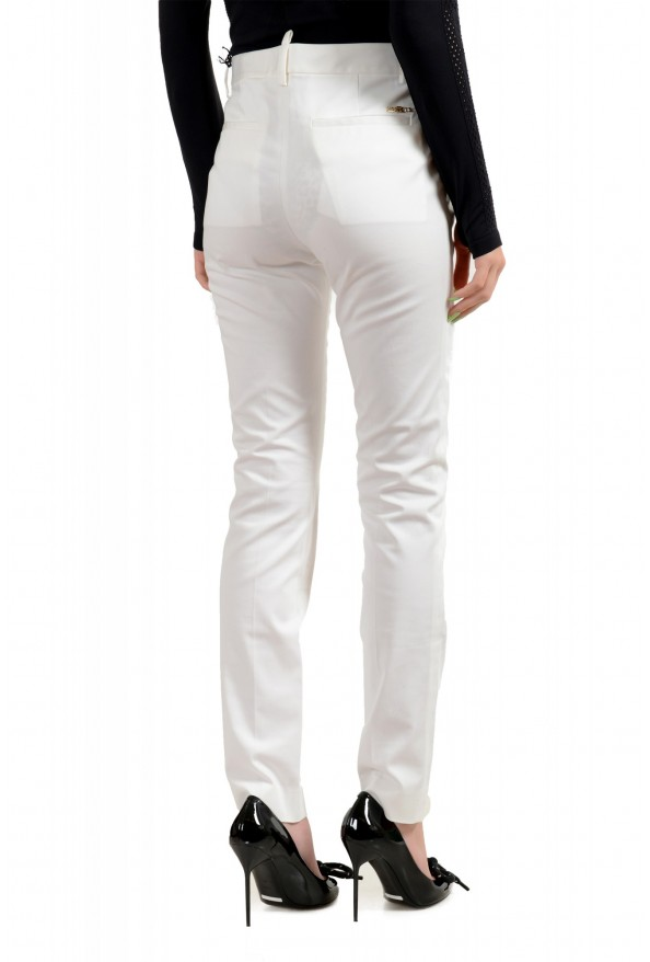 Dsquared2 Women's White Flat Front Dress Pants: Picture 3