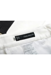 Dsquared2 Women's White Flat Front Dress Pants: Picture 4