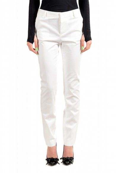 Dsquared2 Women's White Flat Front Dress Pants