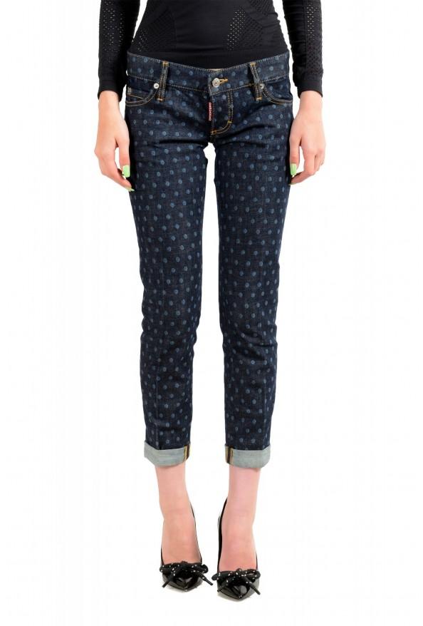 "Dsquared2 Women's ""Pat Jean"" Blue Wash Cropped Capri Jeans"