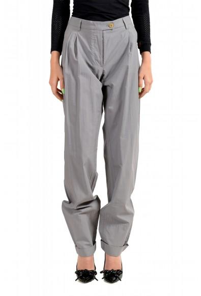 Viktor & Rolf Women's Gray Pleated Front Dress Pants