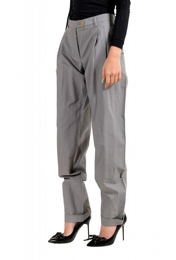 Viktor & Rolf Women's Gray Pleated Front Dress Pants: Picture 2