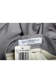 Viktor & Rolf Women's Gray Pleated Front Dress Pants: Picture 4