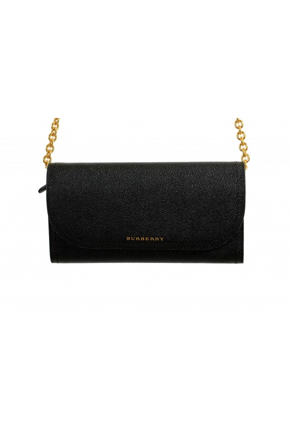 Burberry Women's Black Pebbled Leather Wallet Shoulder Bag: Picture 2