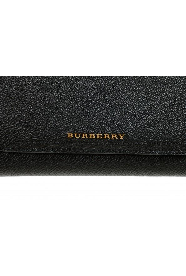 Burberry Women's Black Pebbled Leather Wallet Shoulder Bag: Picture 3