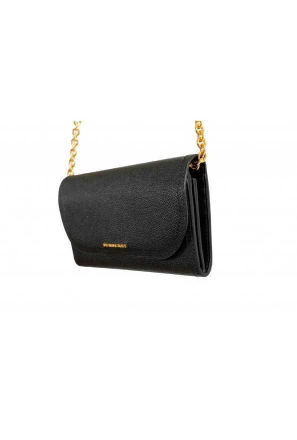 Burberry Women's Black Pebbled Leather Wallet Shoulder Bag: Picture 4
