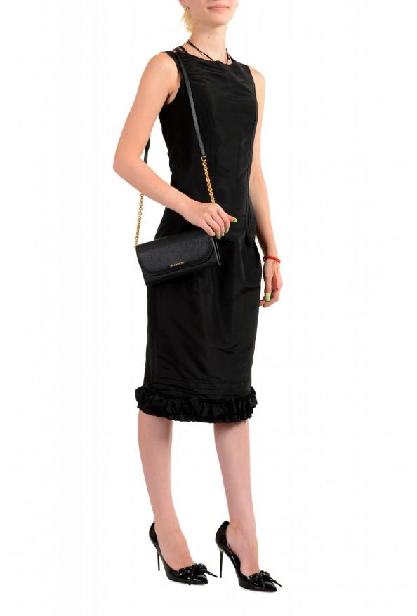 Burberry Women's Black Pebbled Leather Wallet Shoulder Bag: Picture 7