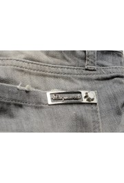 """Dsquared2 Women's """"Pat Jean"""" Gray Wash Distressed Straight Jeans: Picture 5"""