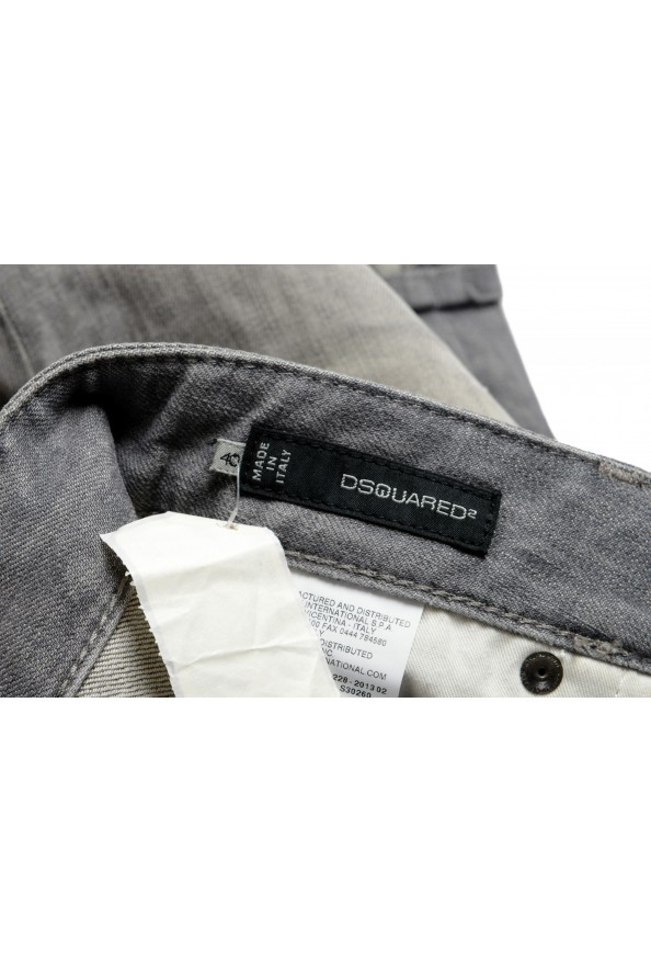 """Dsquared2 Women's """"Pat Jean"""" Gray Wash Distressed Straight Jeans: Picture 6"""