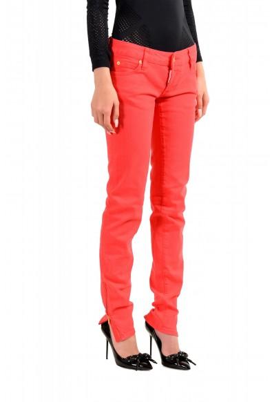"Dsquared2 Women's ""Super Slim Jean"" Coral Pink Jeans : Picture 2"