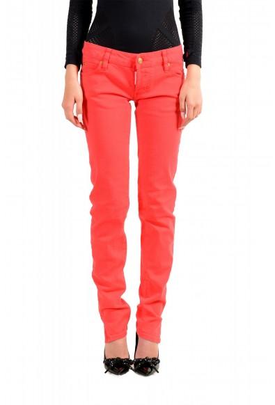"Dsquared2 Women's ""Super Slim Jean"" Coral Pink Jeans"