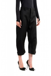 Dsquared2 Women's Black Wool Silk Dress Cropped Pants: Picture 2
