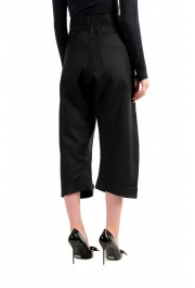 Dsquared2 Women's Black Wool Silk Dress Cropped Pants: Picture 3