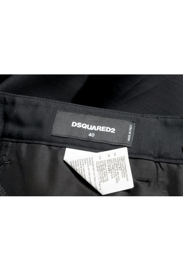 Dsquared2 Women's Black Wool Silk Dress Cropped Pants: Picture 4