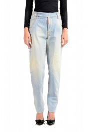 """Dsquared2 Women's """"Painter Jean"""" Blue Striped Denim Pants"""