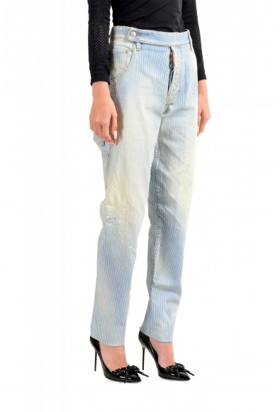 """Dsquared2 Women's """"Painter Jean"""" Blue Striped Denim Pants: Picture 2"""