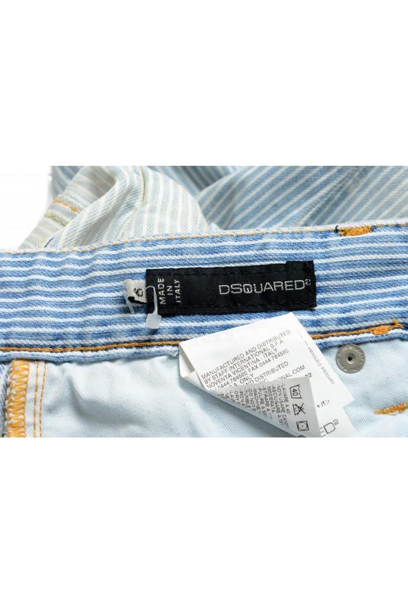 """Dsquared2 Women's """"Painter Jean"""" Blue Striped Denim Pants: Picture 4"""