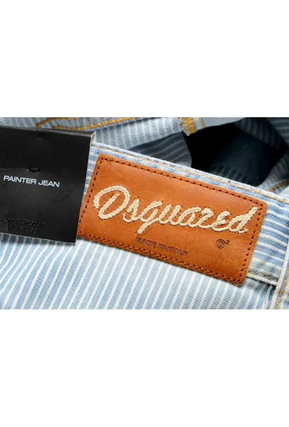 """Dsquared2 Women's """"Painter Jean"""" Blue Striped Denim Pants: Picture 5"""