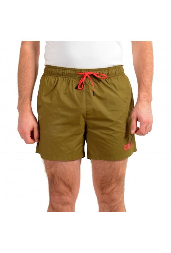 "Hugo Boss Men's ""Haiti"" Olive Green Swim Board Shorts"
